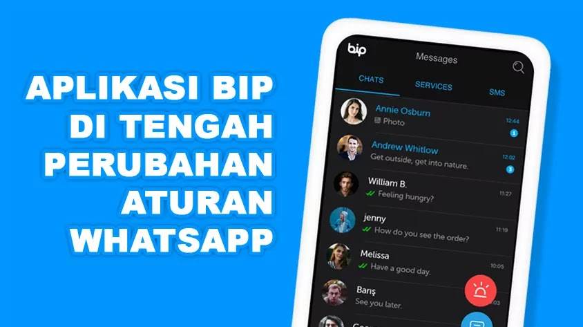 Aplikasi BiP adalah sebuah aplikasi perpesanan milik negara Turki