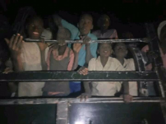 """""""Pictures of the Kankara school boys being conveyed home after their release"""""""