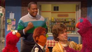 Telly, Philip, Simon, Peter Dinklage, Elmo, Chris, Sesame Street Episode 4405 Simon Says season 44