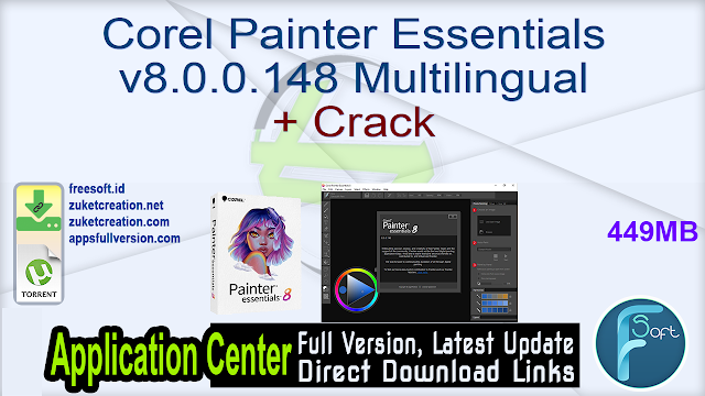 Corel Painter Essentials v8.0.0.148 Multilingual + Crack