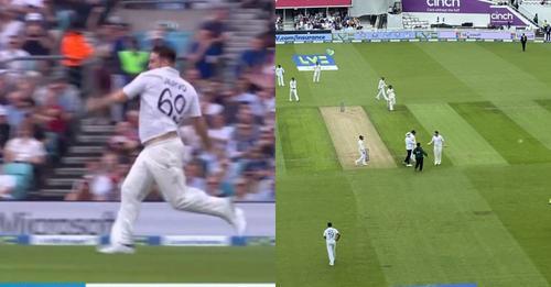 4 टेस्ट में तीसरी बार मैदान में घुसा ज़ारवो, इस बार बॉलर बनकर मारी एंट्री