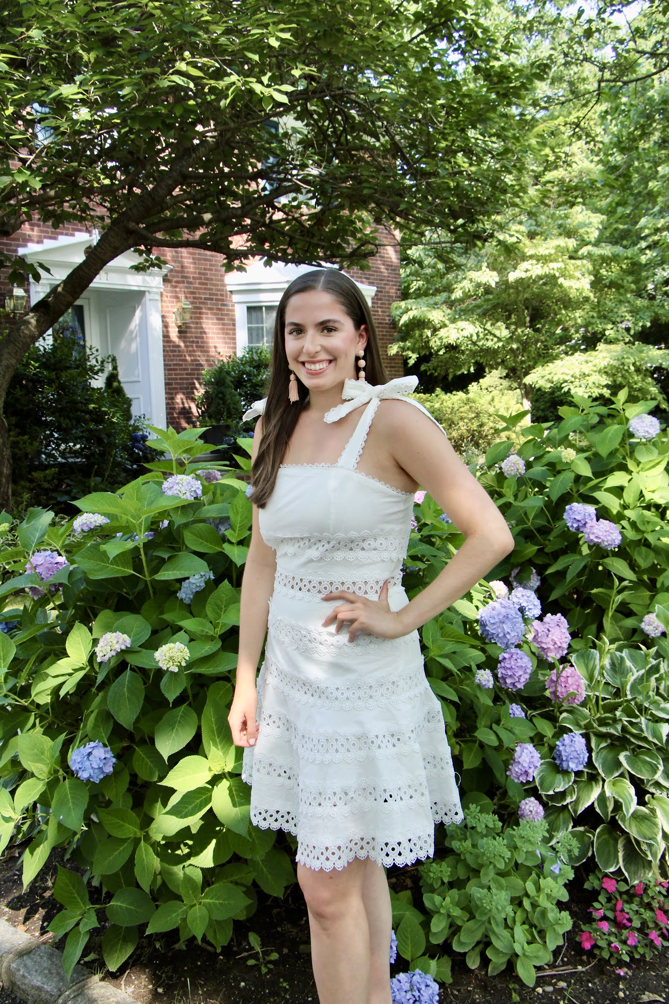 white dress, graduation dress, bride, bachelorette,