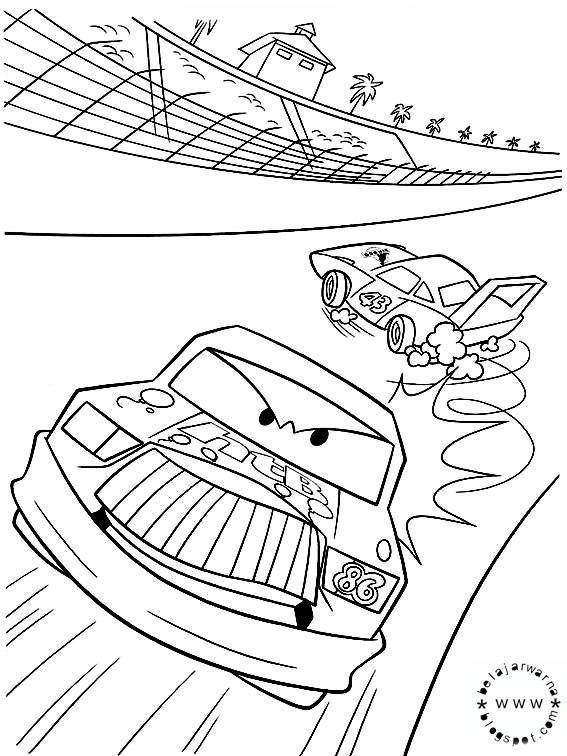 Belajar Mewarnai: Mewarnai Halaman Gambar dalam Film Cars