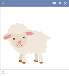 Little Lamb Facebook emoticon