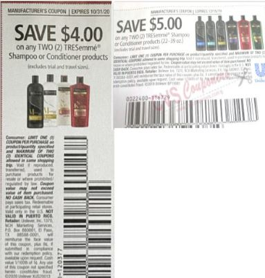 """Tresemme Shampoo or Conditioner Coupon from """"SMARTSOURCE"""""""