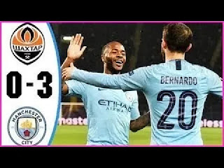 Shakhtar Donetsk Vs Manchester City 0-3 All Goals And Match Highlights [MP4 & HD VIDEO]