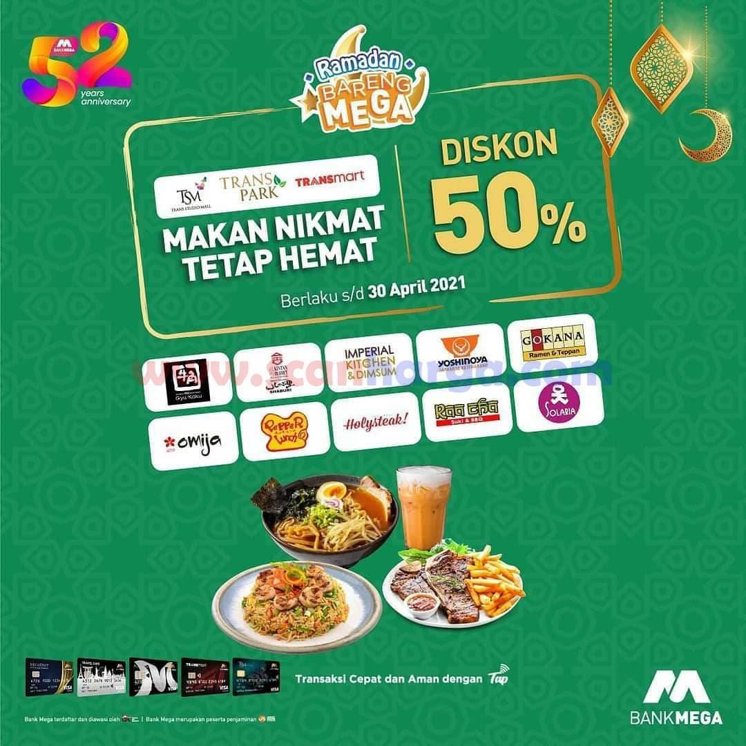 Promo HUT 52 BANK MEGA - DISKON 50% Ramadhan Bareng Mega