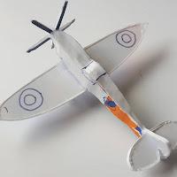 Supermarine Spitfire Model from Scrap Plastic Version 2 - Coroplast DIY - CoroplastCreations.com - photos by: HalifaxSportsPhotos.ca