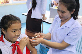 Lao health system continues to offer immunization services despite COVID-19 pandemic
