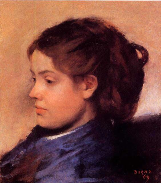 Эдгар Дега - Портрет Эммы Добиньи (1869)