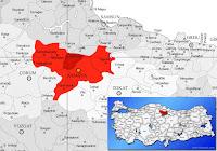 Suluova ilçesinin nerede olduğunu gösteren harita