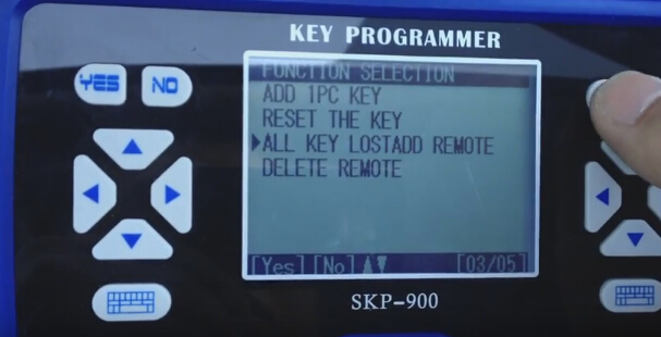 Select All key lost Add remote