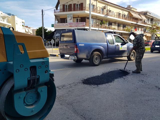 Έργα συντήρησης στο οδικό δίκτυο της πόλης του Ναυπλίου