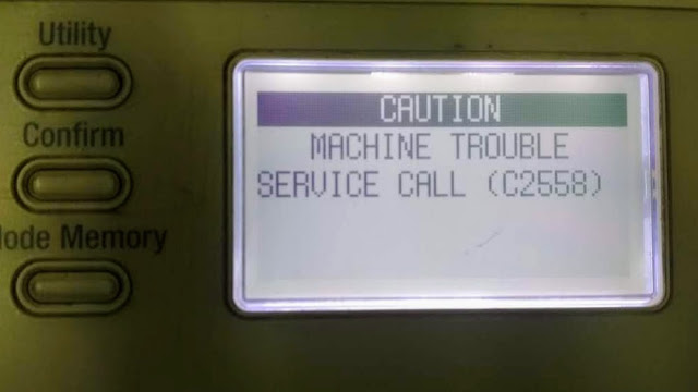 Konica Minolta bizhub 215 error c2558 solution