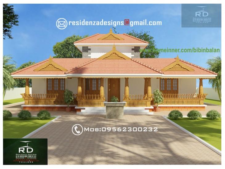 2390 Sq Ft Traditional Nalukettu Model Home Design Indian Home