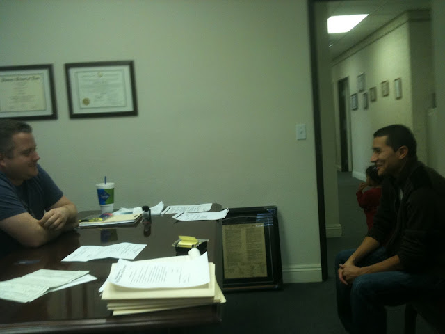 Attorney David Jacks with happy client