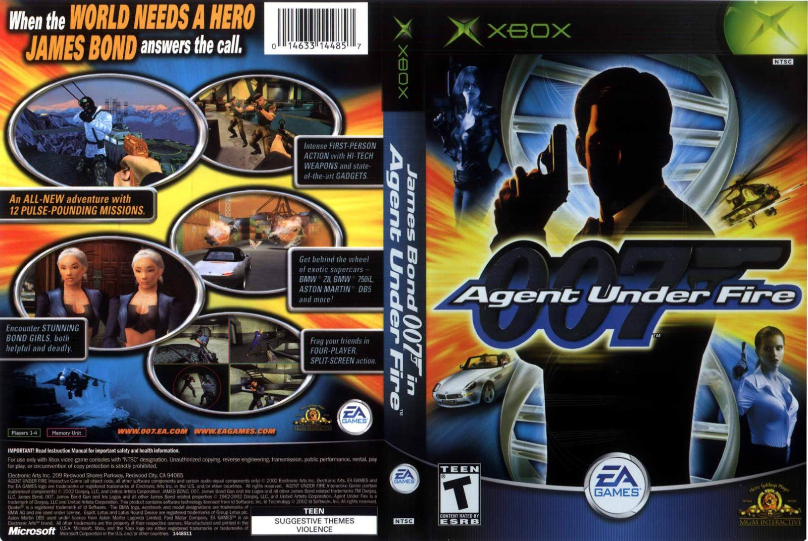Capa 007 Agent Under Fire Xbox