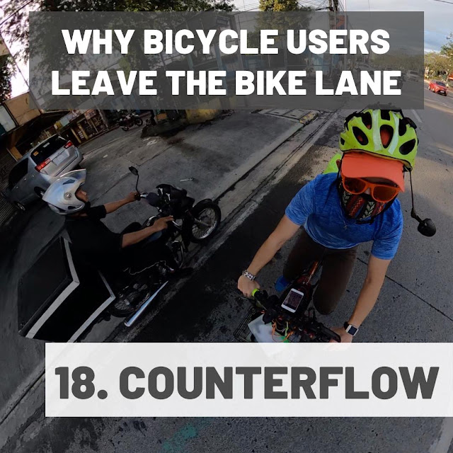 Other bikers and motorcycles on a counterflow