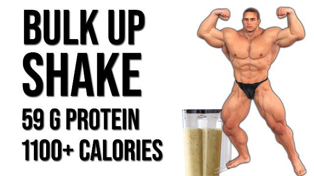 Homemade weight gainer shake for bulking - 59g protein 1000+ calories | Hindi