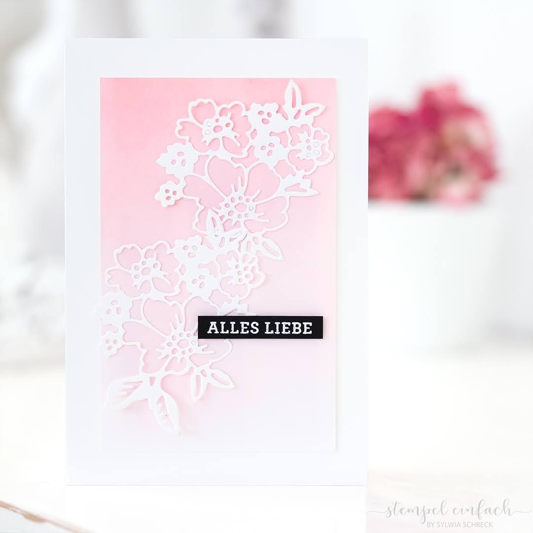Alles Liebe-Karte mit Blumen