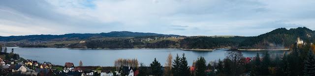 Hotel Lokis, Niedzica-Zamek, widok z tarasu, panorama, Jezioro Czorsztyńskie
