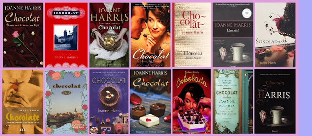 portadas de la novela Chocolat, de Joanne Harris