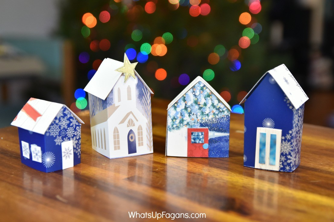 Miniature Christmas Village from Cards by Whats up Fagans