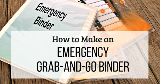 In the event of an emergency evacuation, you'll be glad you made this emergency grab-and-go binder for your hard-to-replace documents.