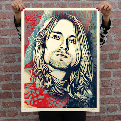 "OBEY Giant ""Kurt Cobain – Endless Namless"" Screen Print by Shepard Fairey"