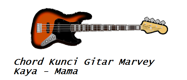 Chord Kunci Gitar Marvey Kaya Mama Calonpintar Com