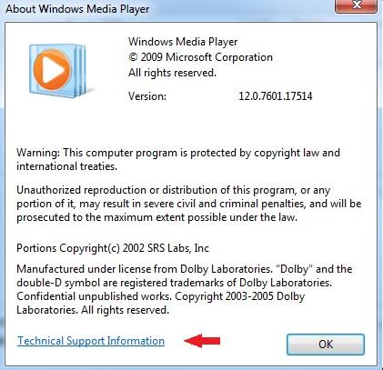 windows media player для сборки windows7х32