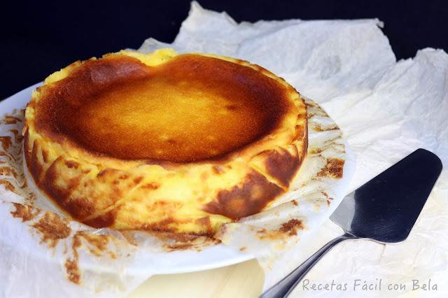 Tarta de queso cremosa y jugosa