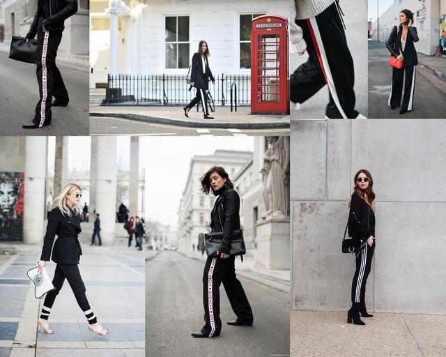Track pants trend artikel met wijde broeken met strepen casual chic sweatpants en comfortabele joggingbroeken