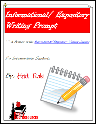 Free informational writing prompt to help you work on the writing process from Raki's Rad Resources