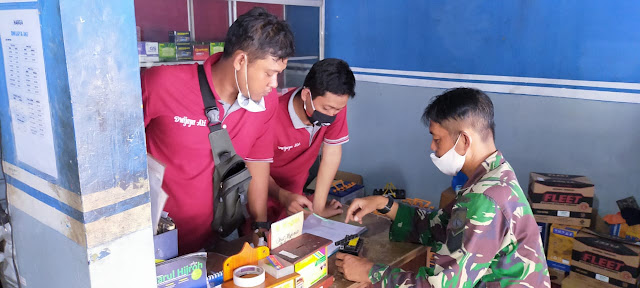 Kodim Karanganyar - Pentingnya Menggunakan Masker, Bati Wanwil Koramil 01 Karanganyar Laksanakan Komsos Pada Warga Binaan