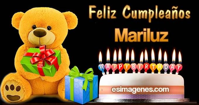 Feliz Cumpleaños Mariluz