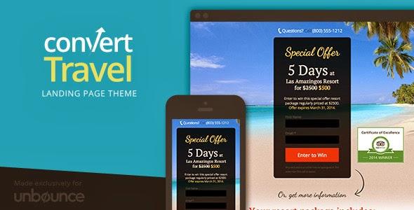 PSD Travel Website Template