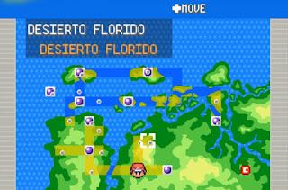 Pokemon Ancient para GBA Mapa Region de Cronia