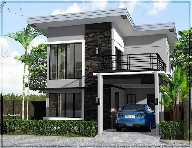 2-Story House with Living Fence