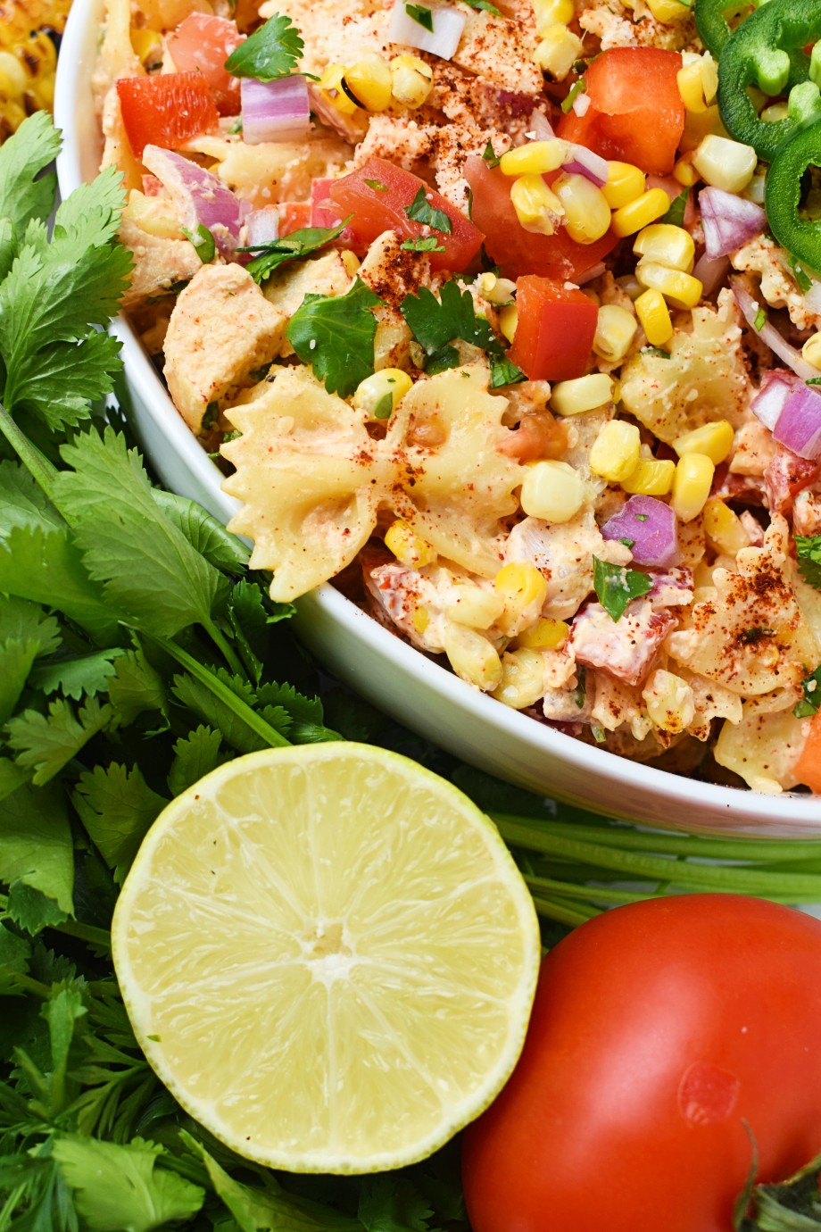 Mexican Street Corn Pasta Salad with Chicken