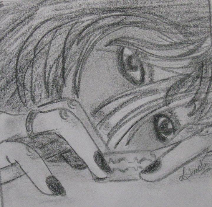 Pencil skecthes ending life pencil sketch of a girl