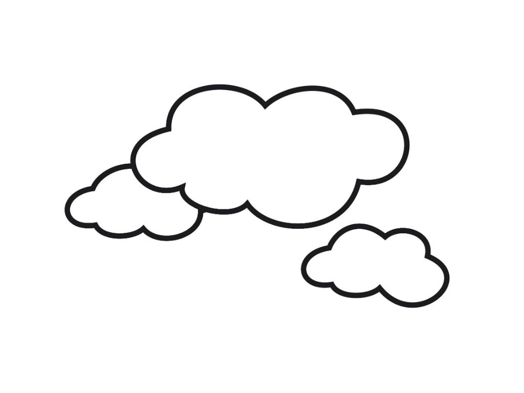 Los Dibujos Para Colorear Dibujos Del Cielo Para Colorear Nubes