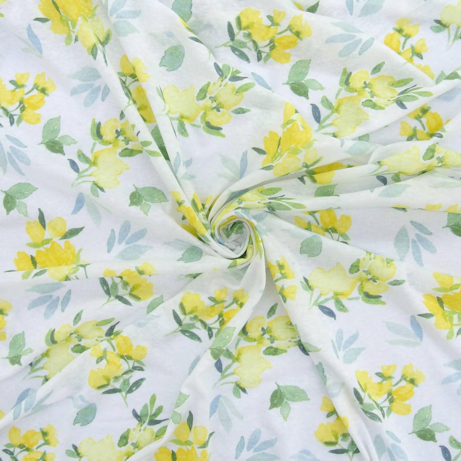 Treadle Yard Goods Slub Knit Prints