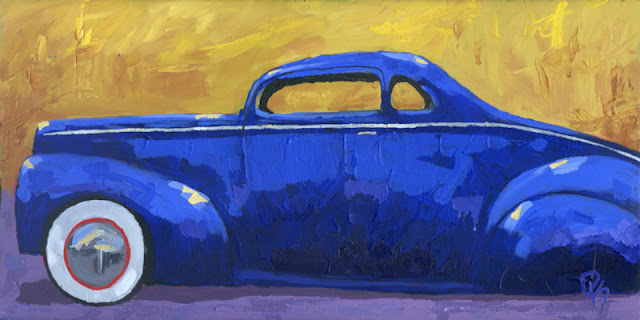 art custom car 1940 ford coupe painting