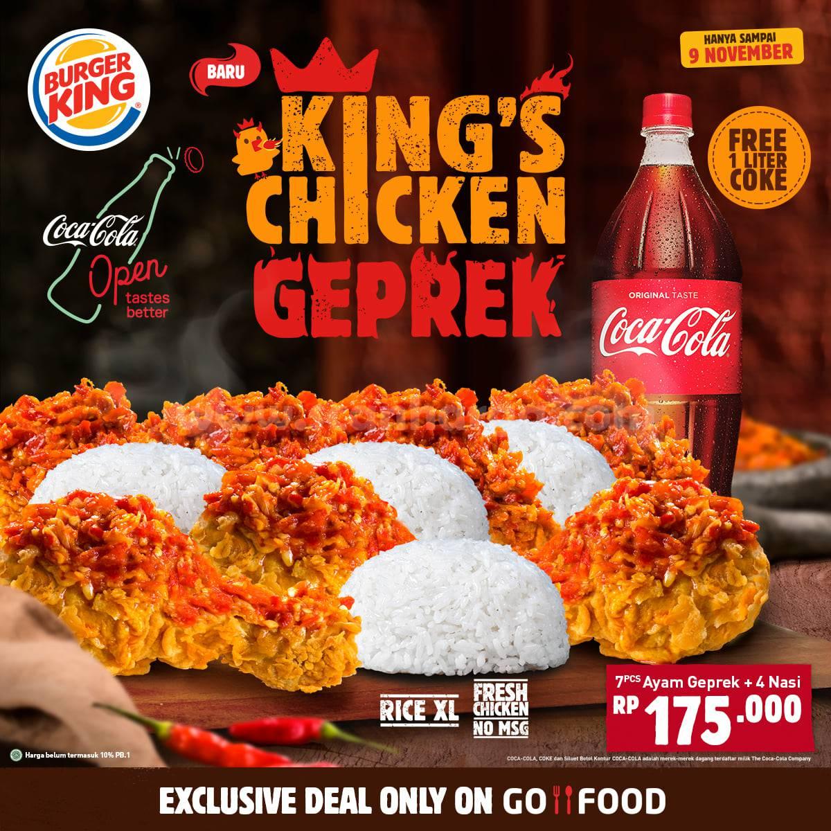 Promo Burger KING'S CHICKEN SAMBAL GEPREK