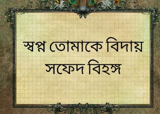 স্বপ্ন তোমাকে বিদায়  //  সফেদ বিহঙ্গ