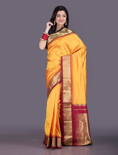 Extravagant Bangalore Silk Saree