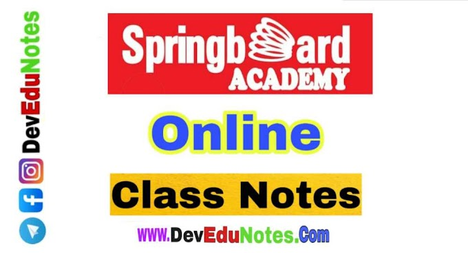 Springboard Academy PDF Notes