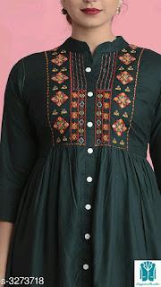 Sia Stylish Rayon Embroidery Women's Kurtis