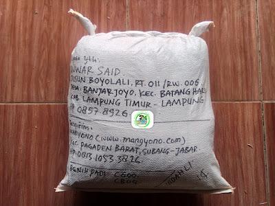 Benih Padi Pesanan   ANWAR SAID Lamtim, Lampung.   (Setelah di Packing).